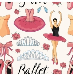 Ballet colorful pattern vector