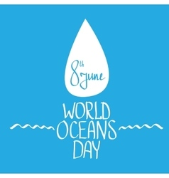 World oceans day background vector