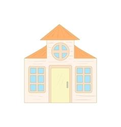 House with a mansard icon cartoon style vector