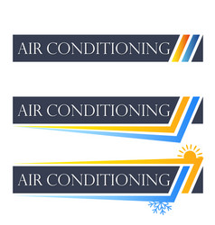 Air conditioning set symbol vector