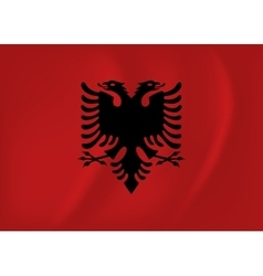 Albania waving flag vector