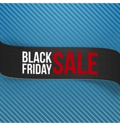 Black Friday Sale Ribbon on blue Background vector image