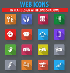 car shop icons set vector image vector image