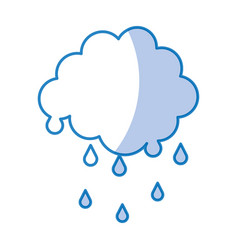 Cloud with rain drops vector