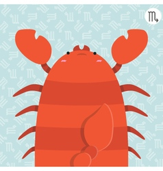 cute big fat scorpio zodiac cartoon vector image vector image