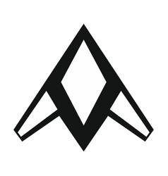 drone icon in black style vector image vector image