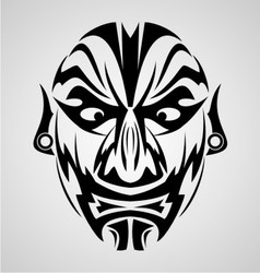 Face tribal vector