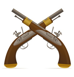 flintlock pistol 02 vector image vector image