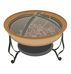 grill bbq barbecue fire steak meat grilled food vector image