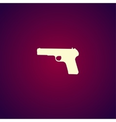 Gun icon concept for design vector image vector image