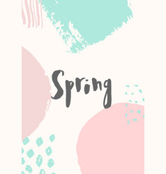 Hello spring design vector