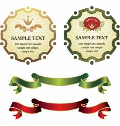 label and banners vector image vector image