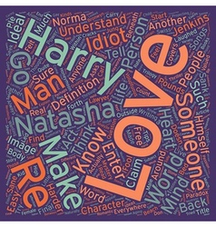 Love text background wordcloud concept vector image