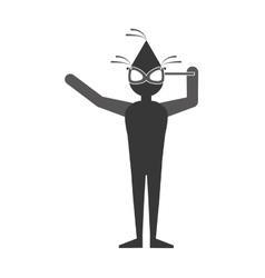 Man celebrating icon image vector