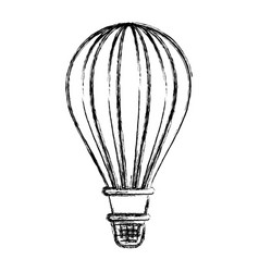 monochrome blurred silhouette of hot air balloon vector image vector image