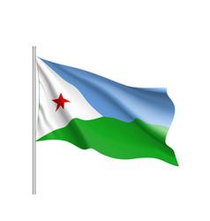 National flag of djibouti vector