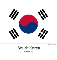 National flag of South Korea with correct vector image vector image