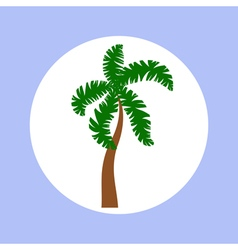 palm in circle vector image