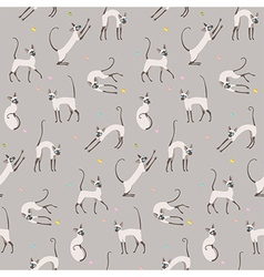 Pattern cats play vector