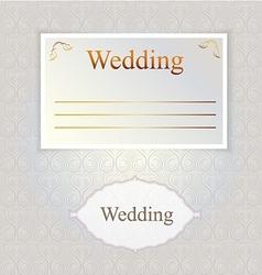 pattern for wedding invitation vector image