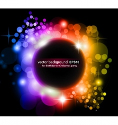 planet background vector image vector image