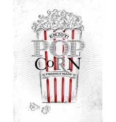 Poster popcorn vector image vector image