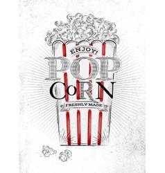 Poster popcorn vector