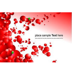 Red futuristic abstract background vector