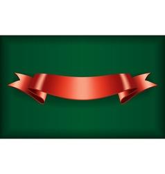 Red ribbon bow blank satin vector