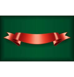 Red ribbon bow blank satin vector image vector image