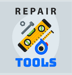 Repair tools level measuring tape icon creative vector
