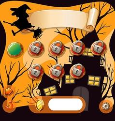 Screensaver of halloween theme game vector image