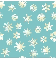 Seamless pattern with abstract snowflakes vector