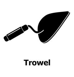 trowel icon simple black style vector image
