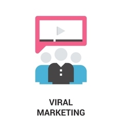viral marketing icon concept vector image vector image