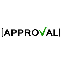 Word approval with the green checkmark vector