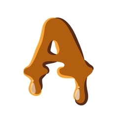 Letter a from caramel icon vector