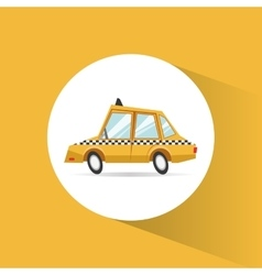 Taxi vehicle and transportation design vector