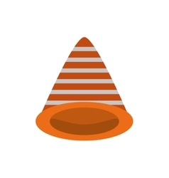 Traffic cone caution sign vector