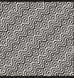 abstract geometric pattern with wavy lines vector image