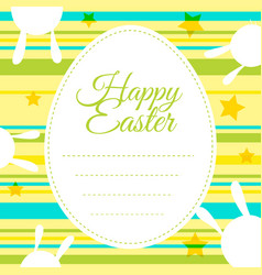 Happy easter card template with colorful vector
