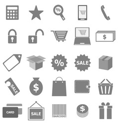 Shopping icons on white background vector