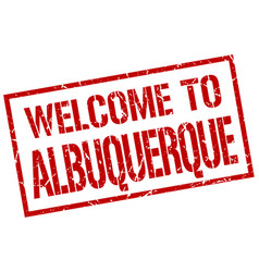 Welcome to albuquerque stamp vector