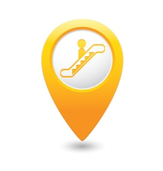 Escalator icon yellow map pointer4 vector