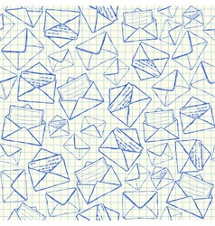 Envelope doodles seamless pattern vector