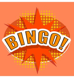 Cartoon bingo design element vector
