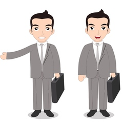 Senior businessman vector