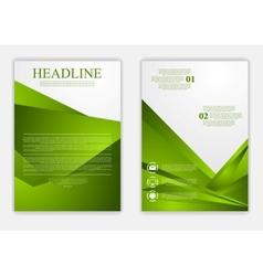 Abstract green corporate tech flyer design vector image