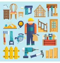 Carpentry icon flat vector
