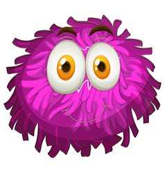 Purple pom-pom with happy face vector